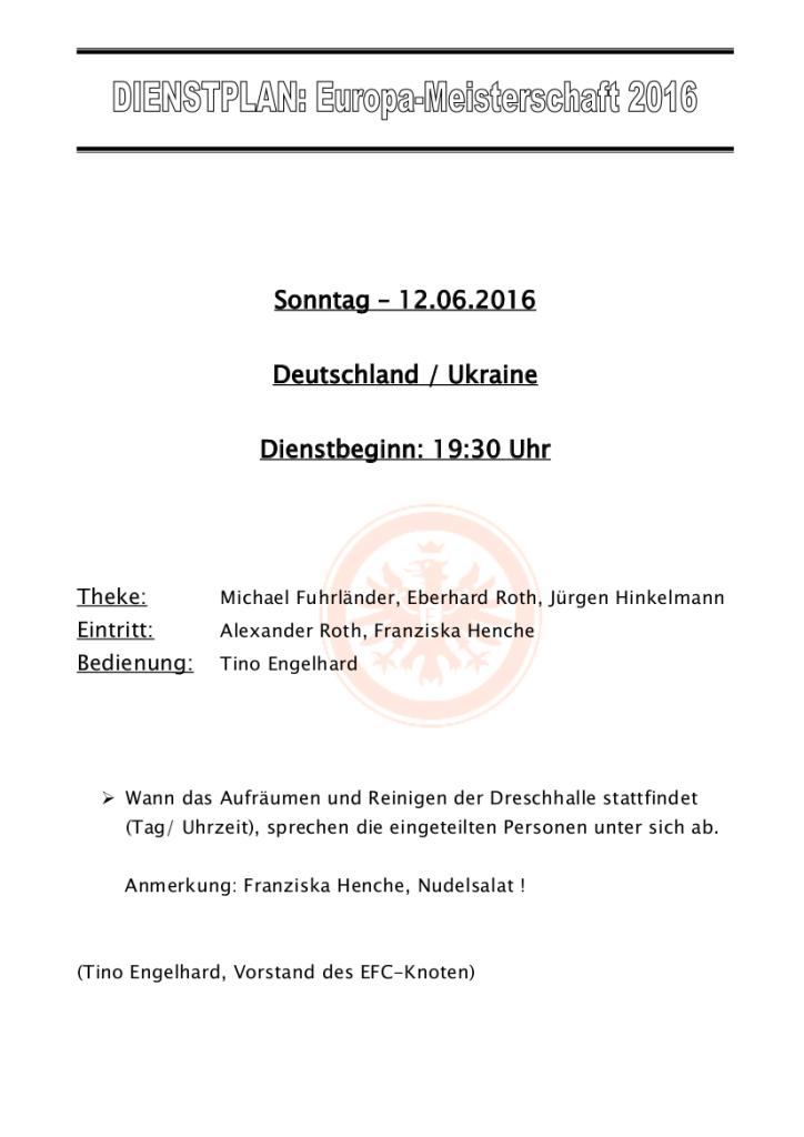 Dienstplan 12062016